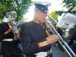 Trombonist en huidig secretaris van Excelsior, Wim van geelen